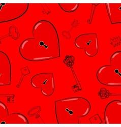 Heart and keys vector