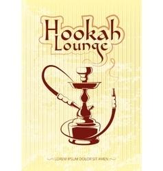 Hookah bar poster vector