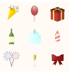 Icon set for holiday season vector