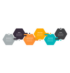 infographics label design with hexagon vector image