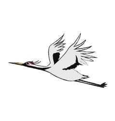 Isolated china bird design vector image