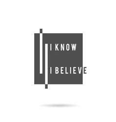 know and belive icon vector image