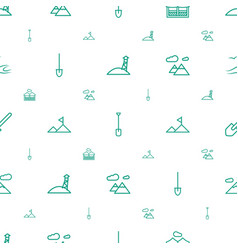 Landscape icons pattern seamless white background vector