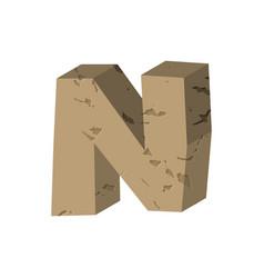 Letter n stone font rock alphabet symbol stones vector