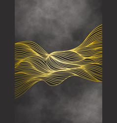 Luxury golden wallpaper abstract background vector