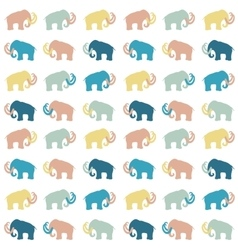 Mammoth silhouettes seamless vector image