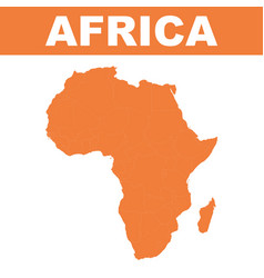 map of africa flat vector image