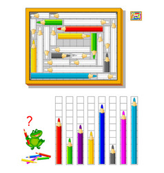 Math education for kids logic puzzle game vector