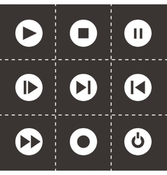 media buttons icon set vector image