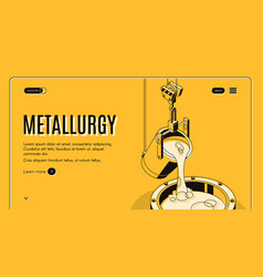 Metallurgical company site design template vector