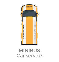 minibus car service means transport isolated vector image