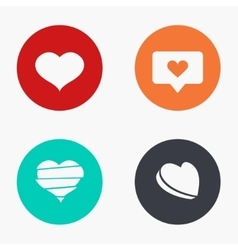 modern heart colorful icons set vector image
