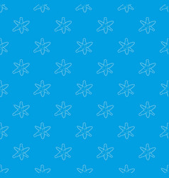 molecules pattern seamless blue vector image