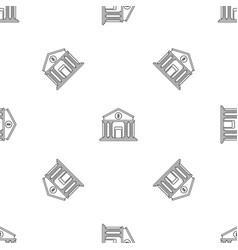 money bank pattern seamless vector image