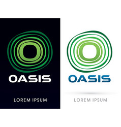 Oasis font typography vector
