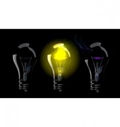 phase blown bulbs vector image