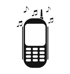 Phone with music vector