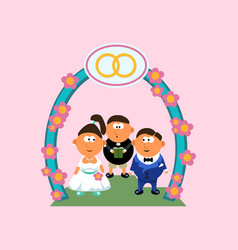 picture wedding vector image