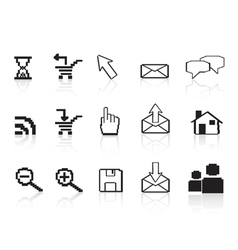 pixel computer icons vector image vector image