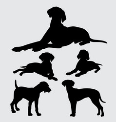 Pointer and any kind of dog silhouette vector
