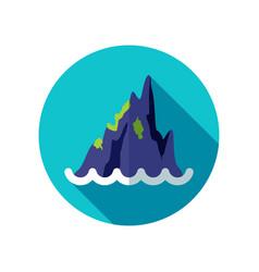 rocks in the sea icon summer vacation vector image