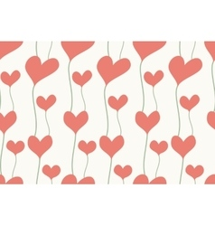 Seamless background of hearts in pastel color vector image
