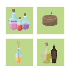 Set elements spa treatment vector