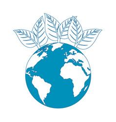 Sheet tree earth planet vector