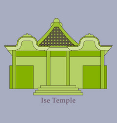 shinto shrine icon vector image
