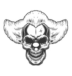 Skull angry clown vector