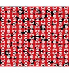 skulls grunge background vector image