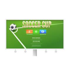 soccer cup european football event poster design vector image