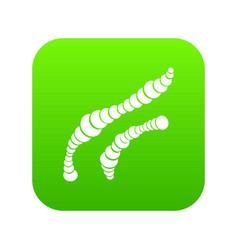 spiral bacteria icon digital green vector image