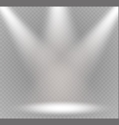 spotlight light effectscene illumination vector image