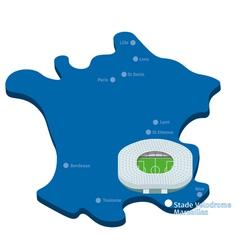 Stade Velodrome Euro 2016 vector