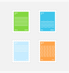 Stamps four elements vector