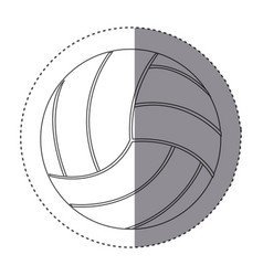 sticker silhouette volleyball icon sport vector image