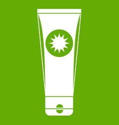 Sunscreen icon green vector