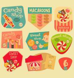 Sweet stickers vector