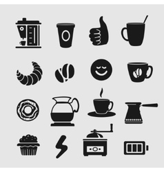 Symbol Set Coffee vector image