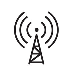 Thin line transmitter icon vector