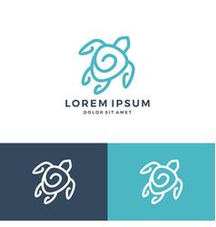 turtle logo icon download vector image