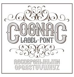 vintage label font Cognac style vector image