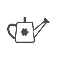 watering can black icon garden tool vector image