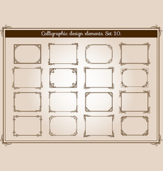Decoration vintage flourish frames with vector