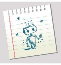 doodle robot vector image vector image