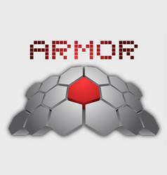 hard armor vector image