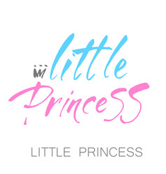 little princess lettering vector image