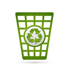 Recycle bin vector image vector image