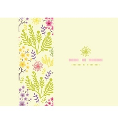 Blossoming trees horizontal frame seamless pattern vector image vector image
